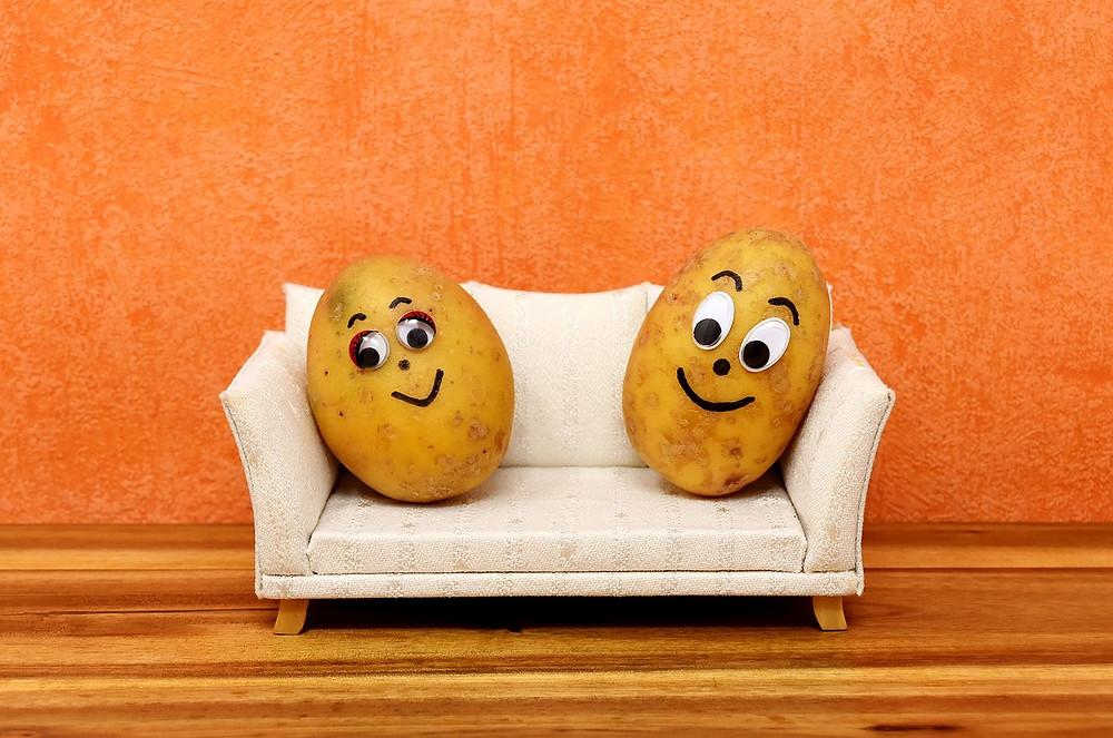 Coach potatoes.