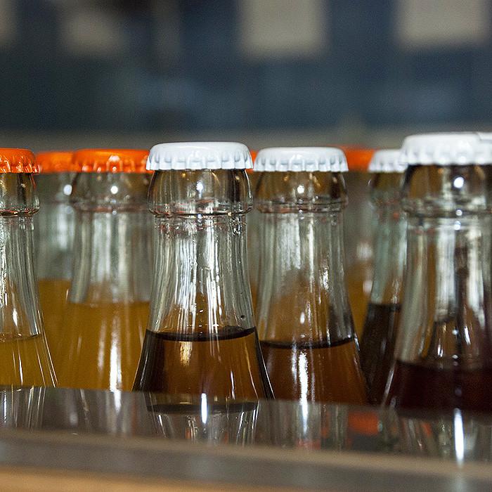Ominous soda bottles