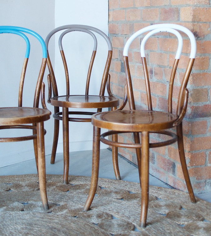 Paint dipped Thonet chairs