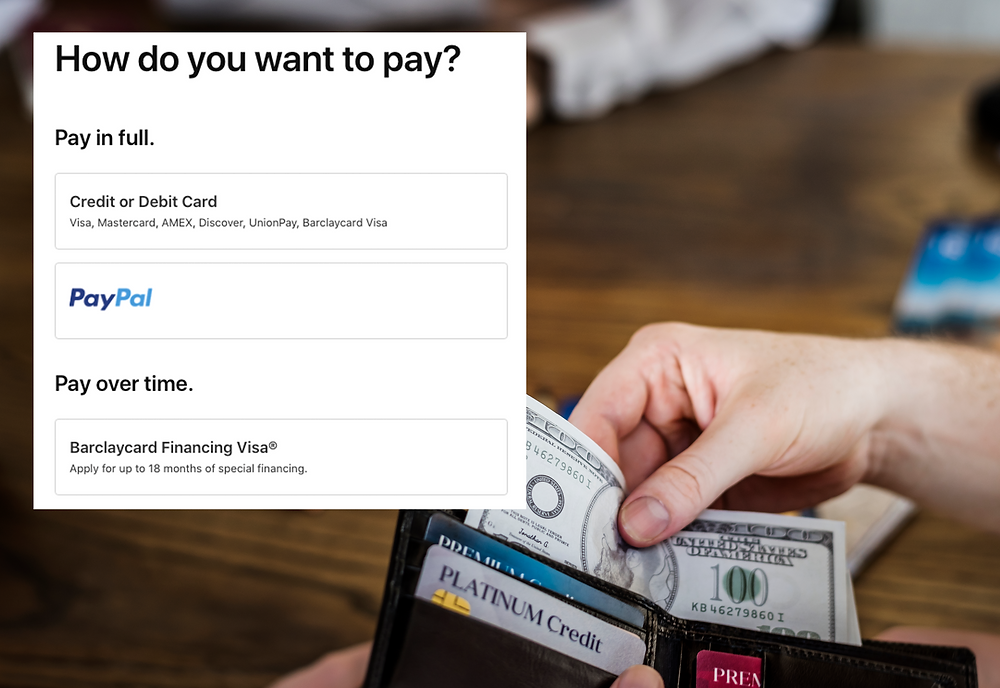 Human paying with 100 dollar bills cash