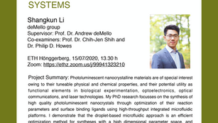 PhD public presentation by Shangkun Li