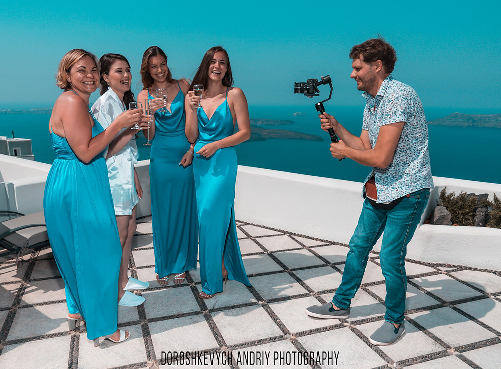 Wedding videographer, Greece.