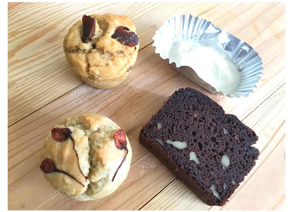 Vegan Buckwheat Muffins and Brownie ヴィーガンスイーツ