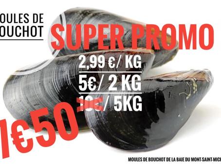 📣En ce moment SUPER PROMO de la 🌊 MOULE DE BOUCHOT Mont Saint Michel 7€50👉5kg