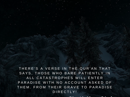 Patience is the key to paradise