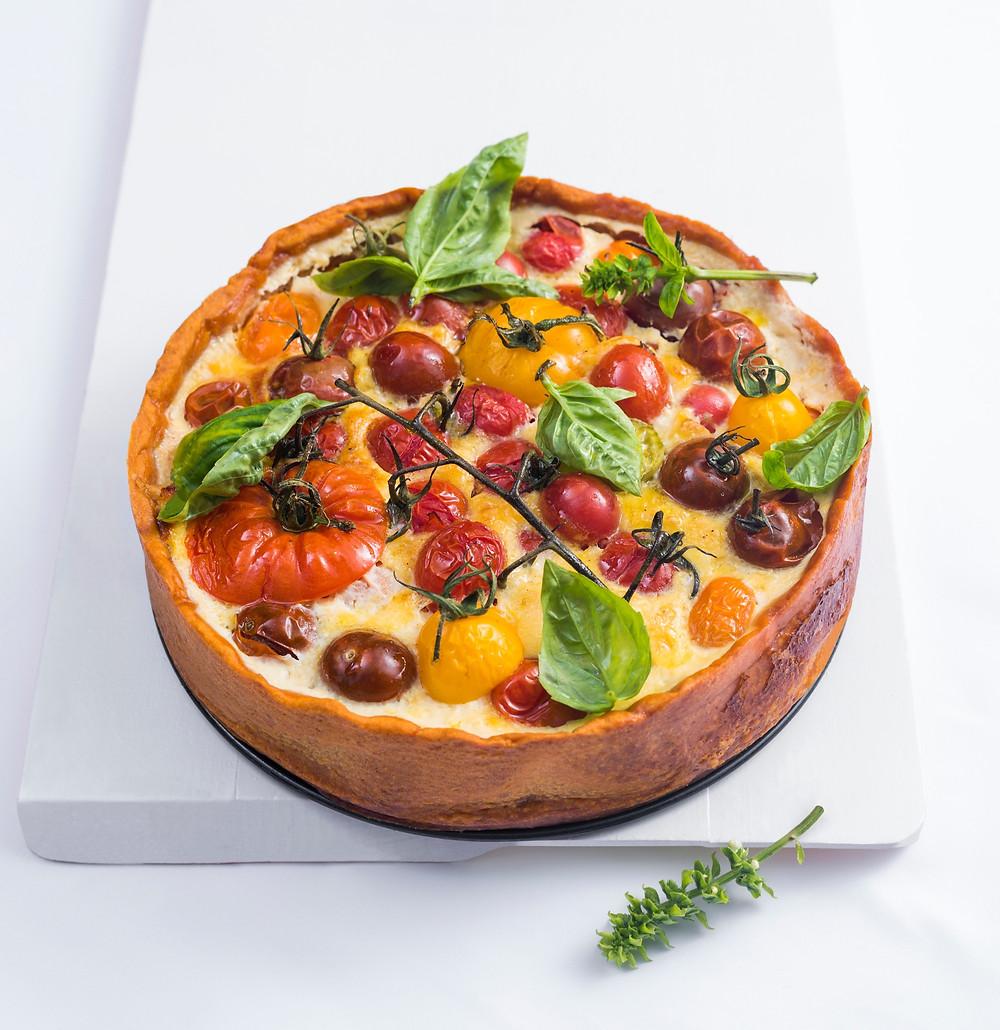 kišas su pomidorais ir kalakutiena, Alfo receptai