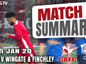 Match summary - Wingate and Finchley