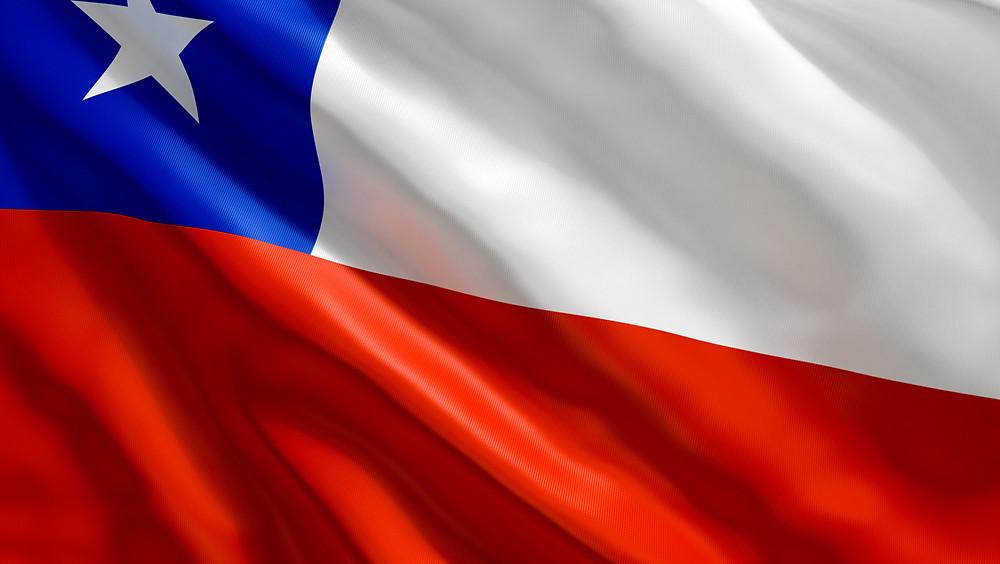 Bandera de Chile.