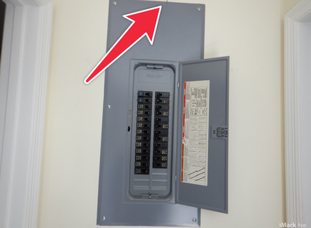 Nails above electrical panels.