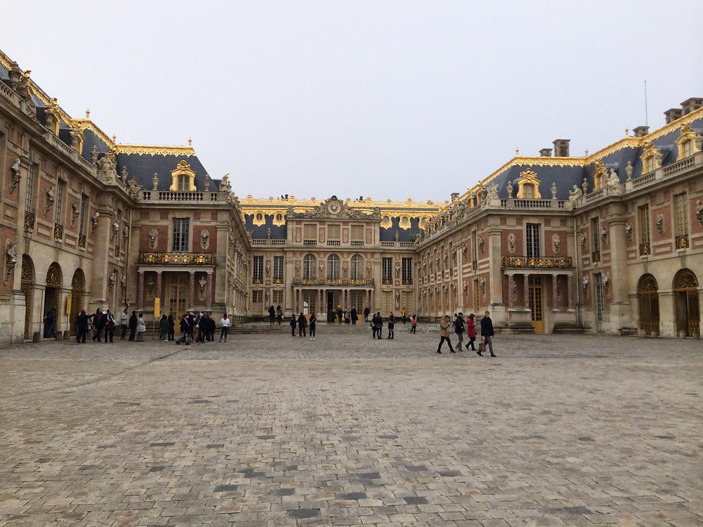 Inside the Royal Courtyard in the palace of Versailles, France