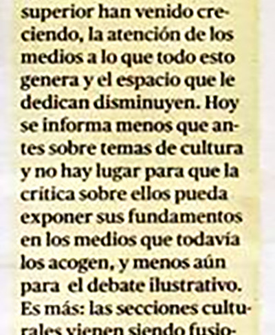 """""""Seriedad bienhumorada y juguetona"""" (recuerdo de la revista Velaverde)."""