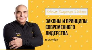 Законы и принципы современного лидерства - бесплатный вебинар Владимира Довганя