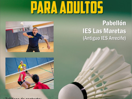 Nueva escuela de Badminton Adultos de Iniciación