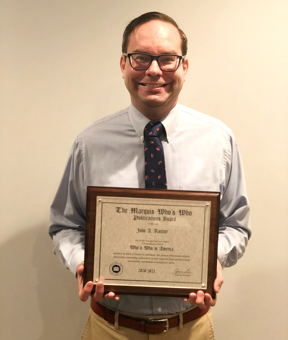 Another milestone for our CEO John Rottier - Marquis Who's Who recognition