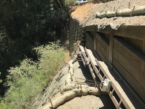 Slope Failure Repair Complete at Spanish Ranch PM 0.20 and 0.37 in Santa Cruz County