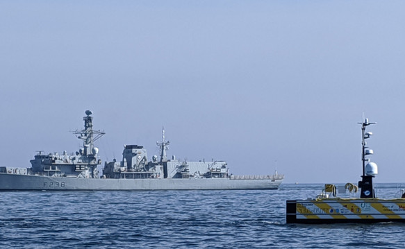 SEA-KIT USV with Royal Navy ship