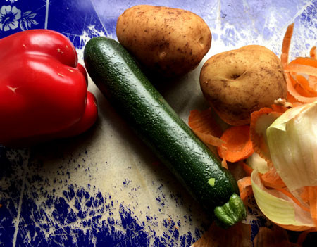 Veggies for a soup.
