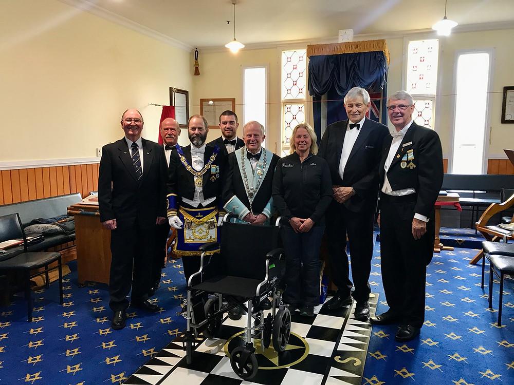 Freemasonry - Wheelchair Donation to Shantytown Heritage Park