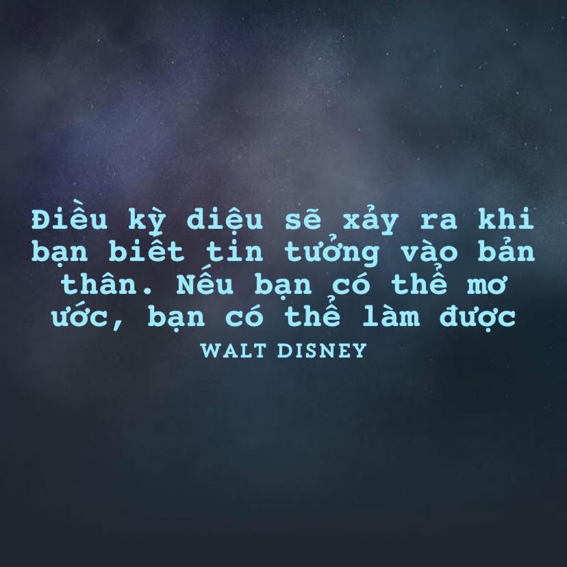 Tin tưởng vào bản thân - Walt Disney