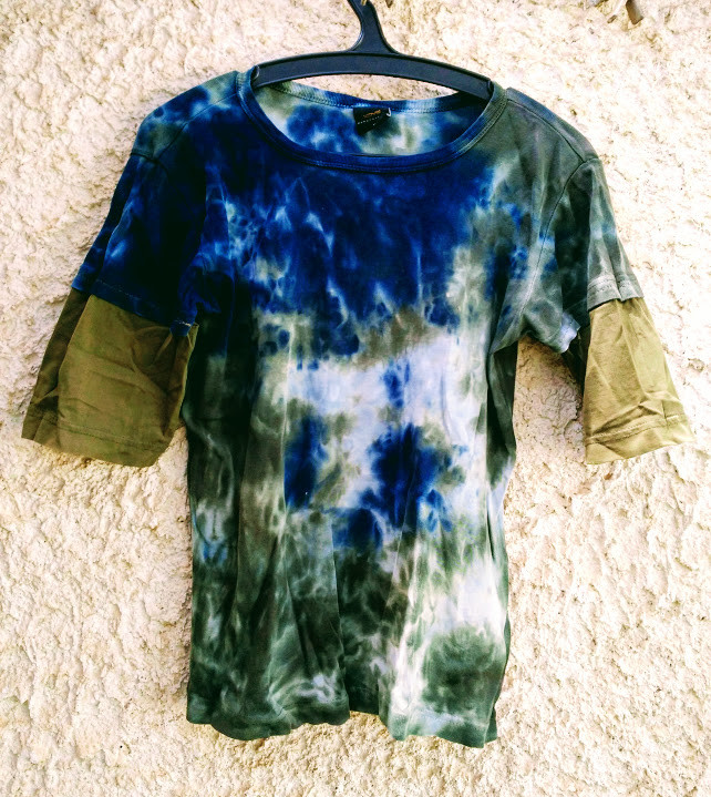 Reverse dyed t shirt