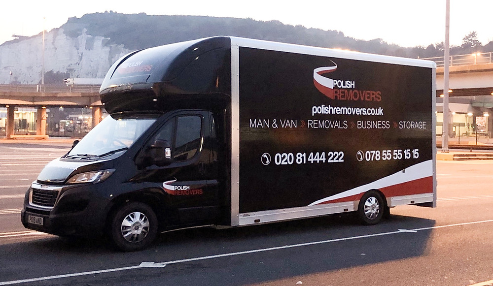 Removals Van in Port of Dover