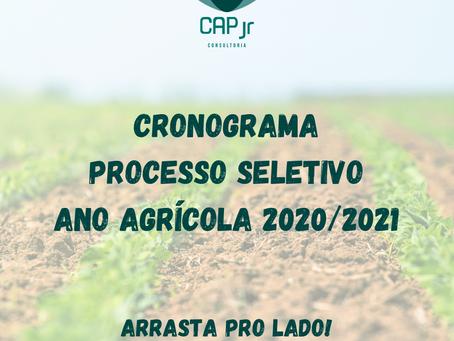 Cronograma do Processo Seletivo do Ano Agrícola 2020/2021!