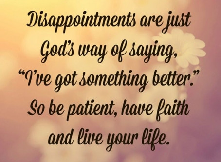 Dealing with Disappointment God's Way