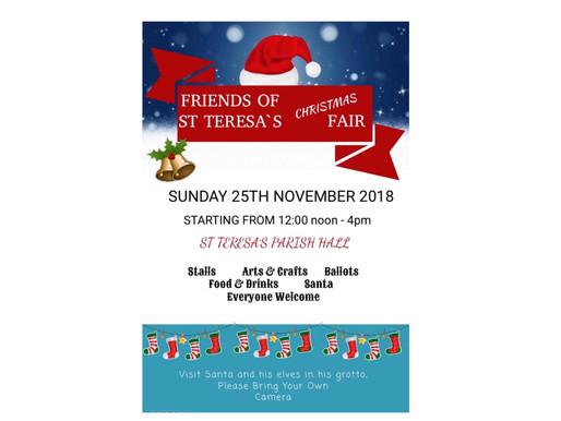 Friends of St Teresa's Christmas Fair