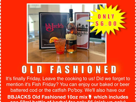 BB Jack's Cottage Grove $6.00 Old Fashioned