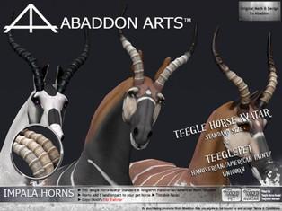 ABADDON ARTS - Impala Horns
