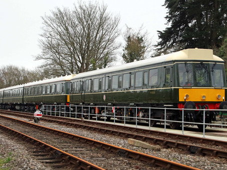 Project Wareham DMU Fleet Assembled at Corfe Castle