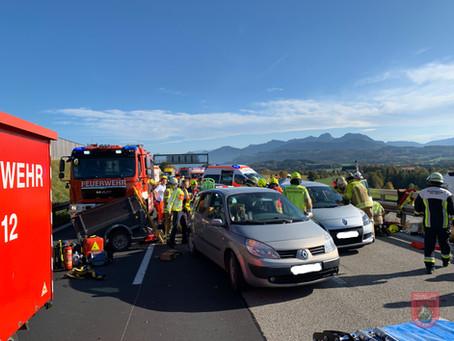 Tragischer Verkehrsunfall auf der Autobahn in Wöllkam bei Irschenberg