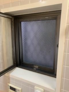 戸田市 浴室窓サッシハンドル設置工事