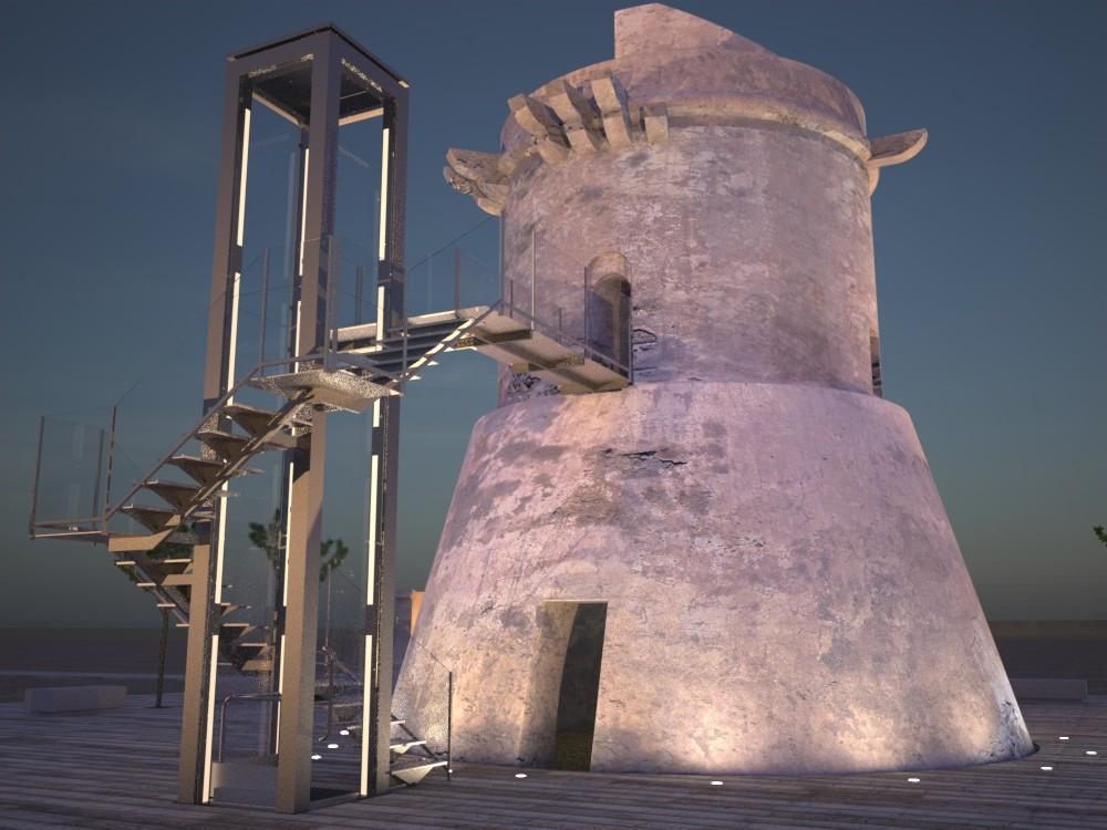 Torre de San Miguel. Imagen Nocturna