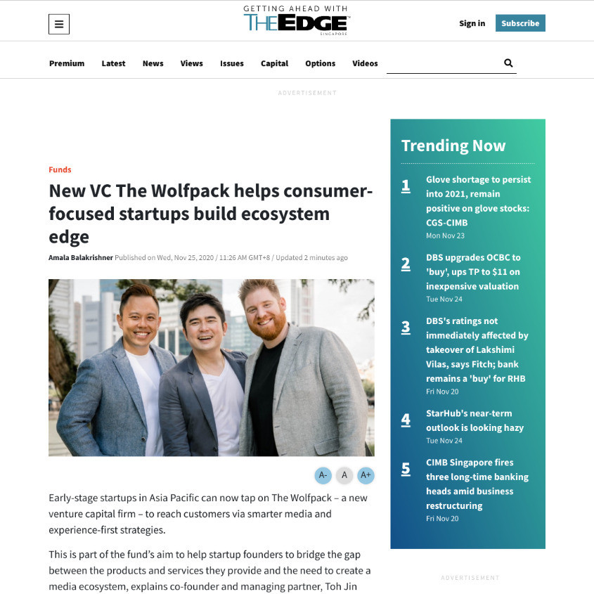 The-Wolfpack launch coverage from The Edge