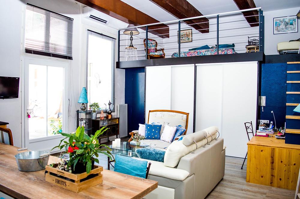 Interior of modern purpose built student accommodation studio