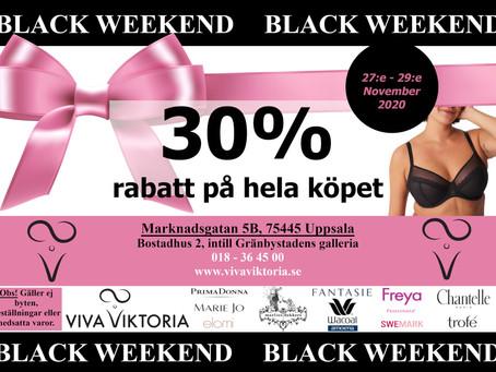Black weekend hos Viva Viktoria 27-29 November 2020