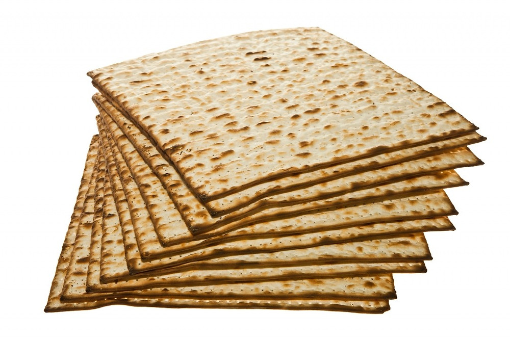 Stack of Matzo traditional Jewish Passover bread