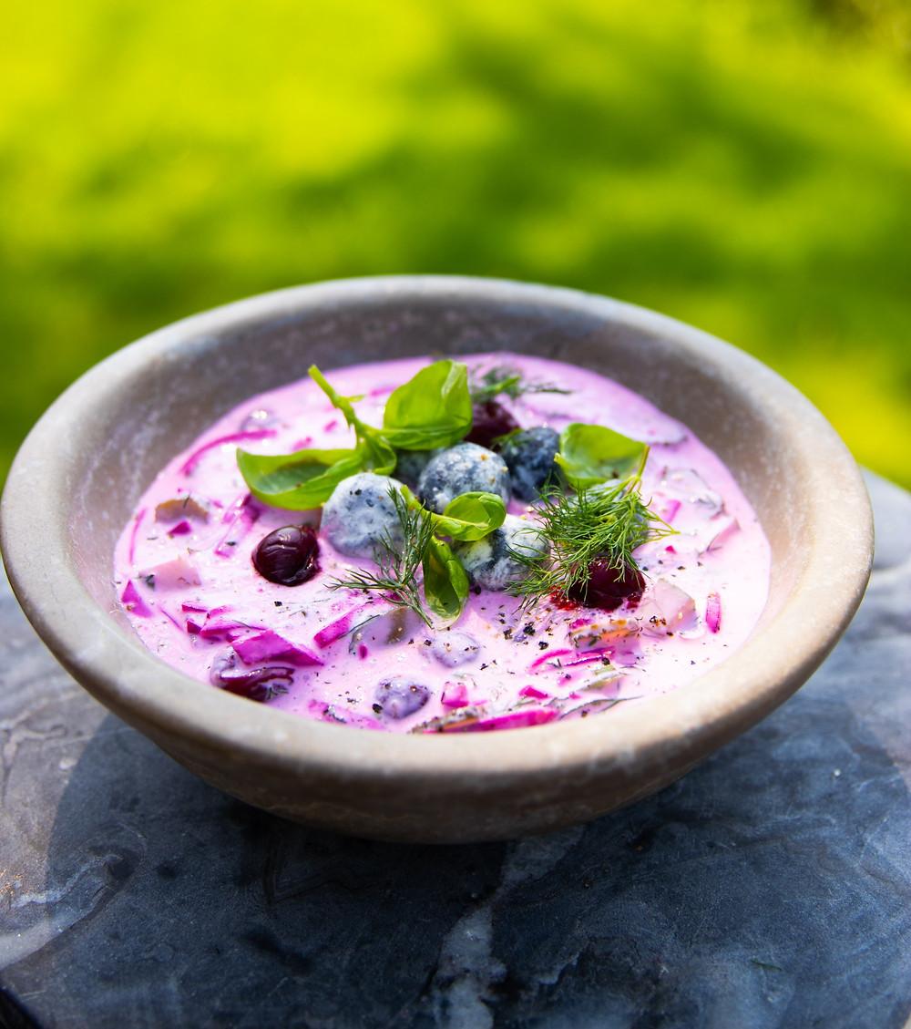Šaltibarščiai su ožkų sūriu, VMG receptai, Alfas Ivanauskas
