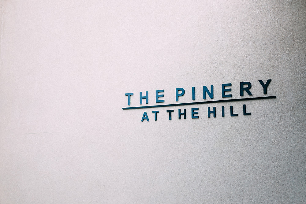 The Pinery at the Hill sign by the front door