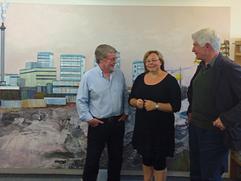 Studio visit Alan Riach & Sandy Moffat, St Margarets House Edinburgh Pallete