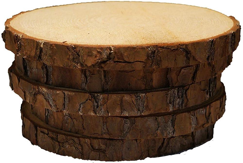 wooden slice for fernery