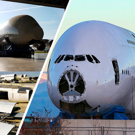 ¿Cómo se deshuesa un Airbus A380?