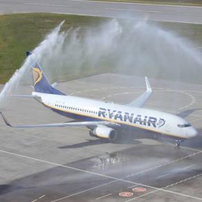 What is water salute in the aviation industry?