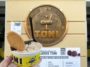 Helados TONI ice cream in Sanlucar de Barrameda, Cadiz, Spain