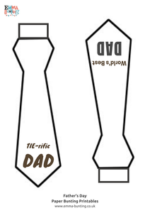 Free Printable Fathers Day Tie from Emma Bunting
