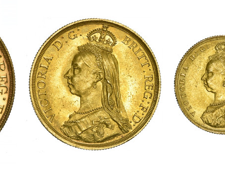 Great Britain 1887 Gold & Silver Set
