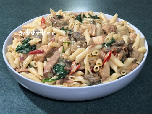 Penne Boscaiola with Chicken