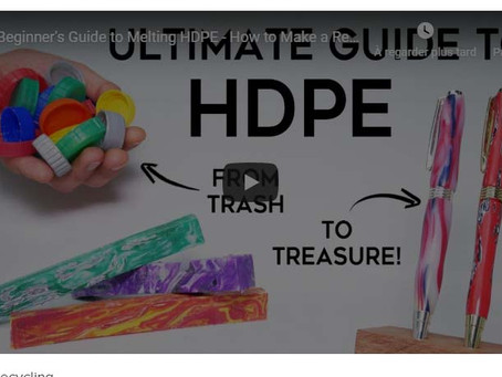 Beginner's Guide to Melting HDPE - How to Make a Recycled Plastic Pen