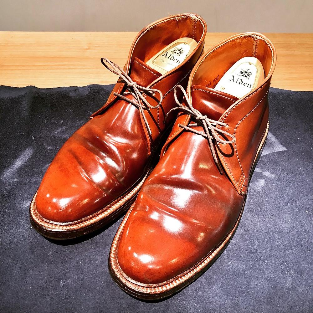 オールデン コードバン 靴磨き 宅配